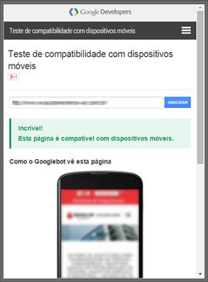 Google- Ferramenta de Teste para Site Responsivo